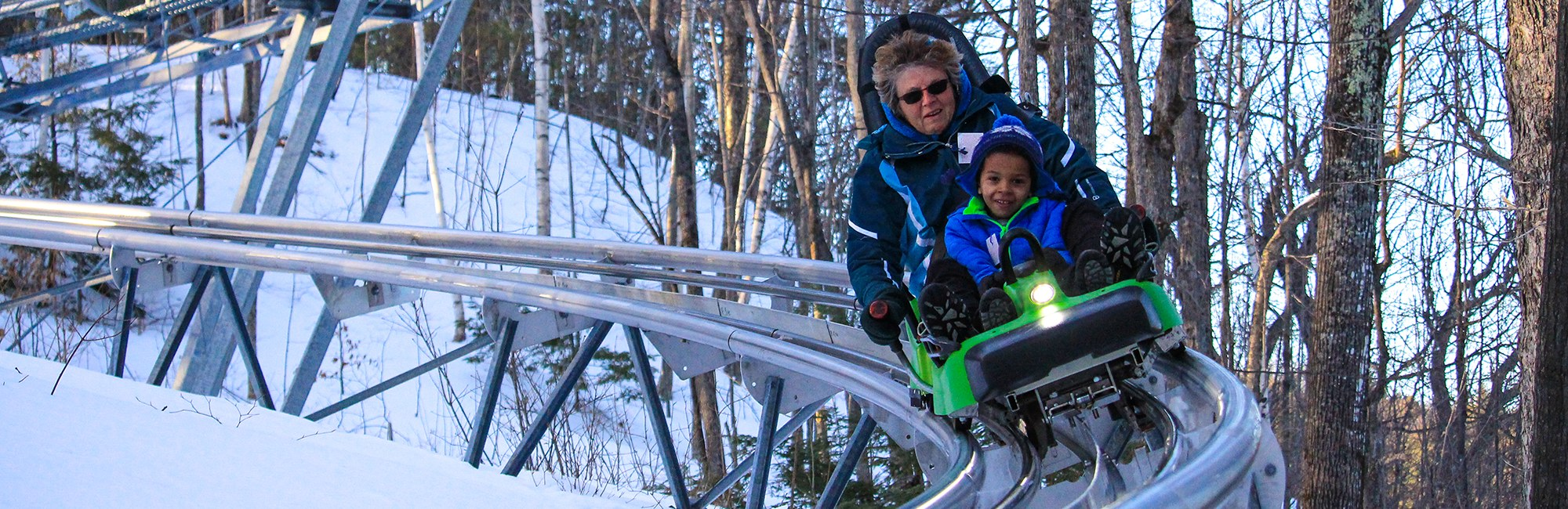 Mountain Coaster in Winter