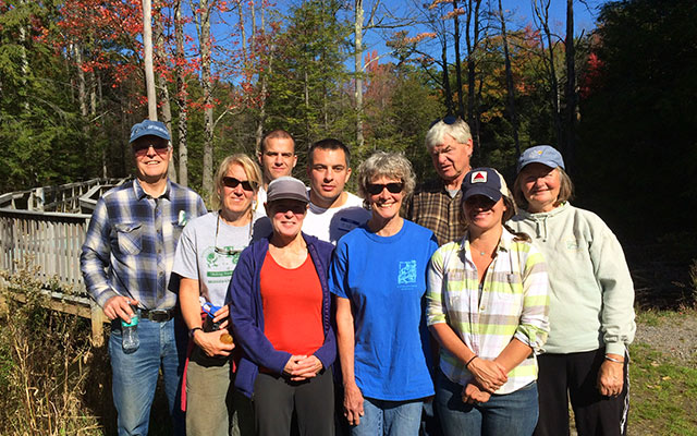 Belknap County Conservation District group at the Wetlands Walk.