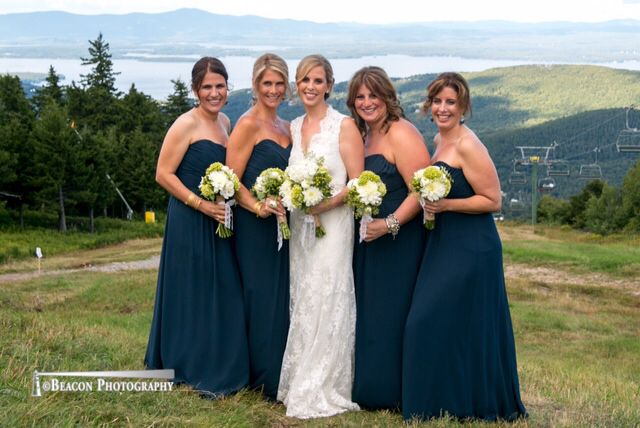 Bride and bridesmaids at the summit.